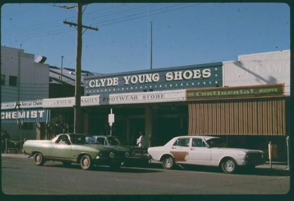 Clyde Young Shoes became Jeff Young Shoes Maude Street Mall