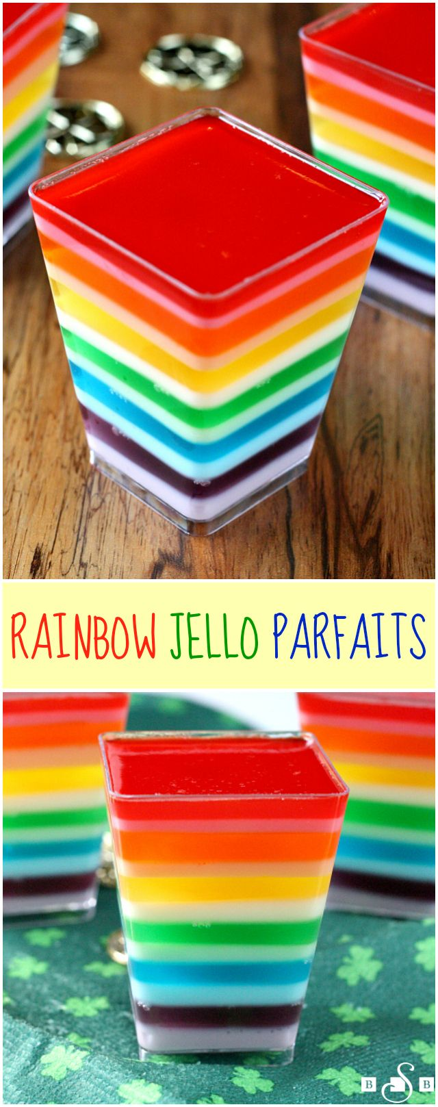 Rainbow Jello Parfaits - Butter With a Side of Bread