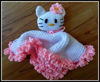 Fannysbuntewelt: Kuscheltuch Kitty
