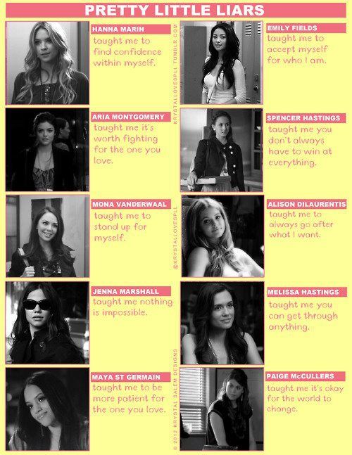 Things Pretty Little Liars girls taught me