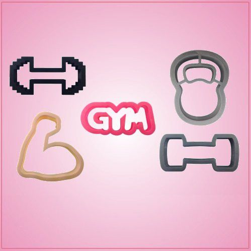 Gym Cookie Cutter Set | Cheap Cookie Cutters