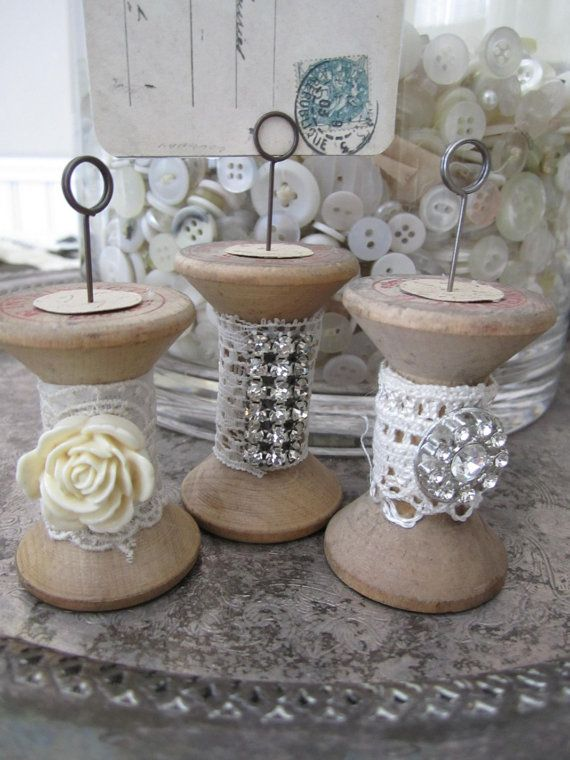 Altered Spools for display