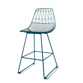 Bend Seating counter stool in peacock blue. For the mid-century inspired kitchen. At @Design Public