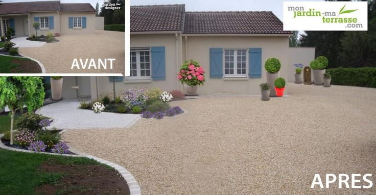 Avant apres id e am nagement entr e maison www for Amenagement exterieur jardin avant apres