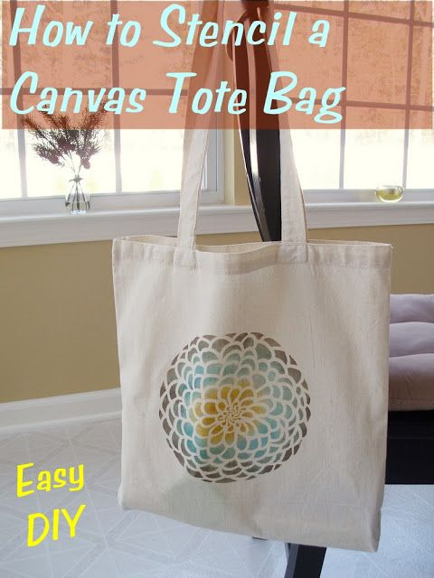 The Shed: How to Stencil a Canvas Tote Bag  @Andrea Smith Surber - might be a cute & easy idea for CCPC Ladies Craft Night
