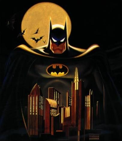 i love batman the animated series. i think that this is my favorite representation of batman; it's dark and really well done. i can watch episodes of this every day.