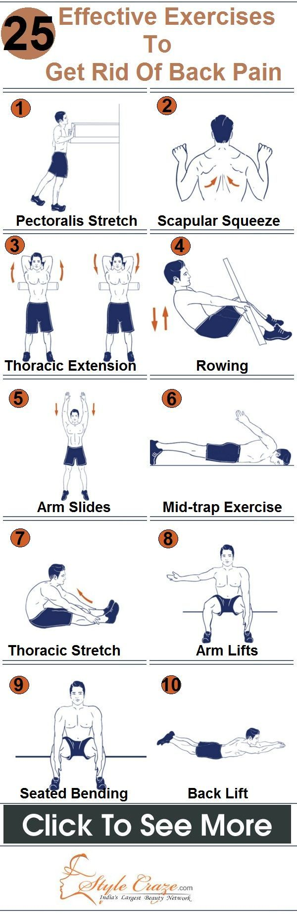Best Exercises To Get Rid Of Back Pain - Our Top 25...GOOD FOR US