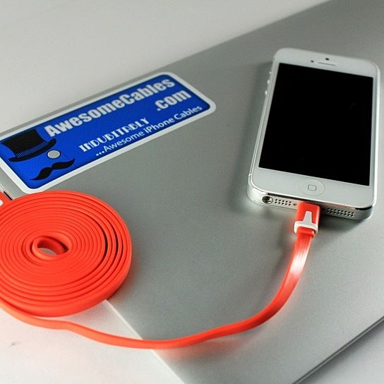 6 FT Noodle iPhone 5 Lightning Cable from Awesome Cables on OpenSky