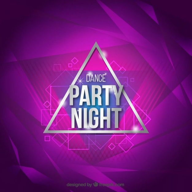 Free vector Purple dance party background #32892
