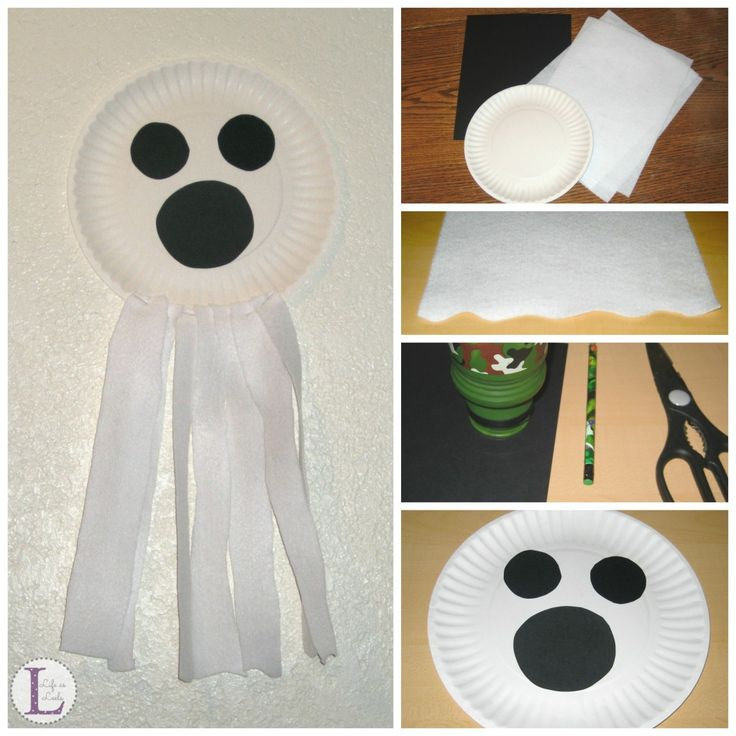 Paper Plate Ghost {Halloween Craft} - Life as Leels