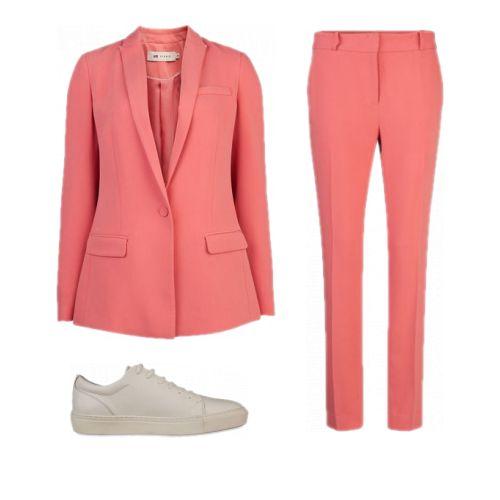 Roze pak WE Fashion/ Damespak roze / outfit pak kantoor / suit pink