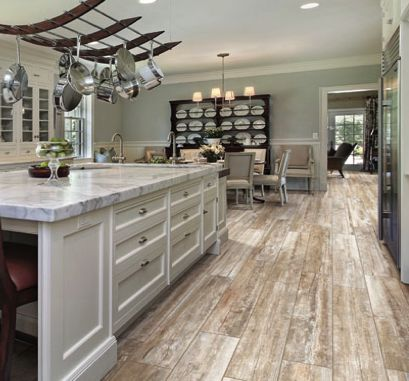 Distressed wood flooring google search andreocci for Hardwood floor tile kitchen