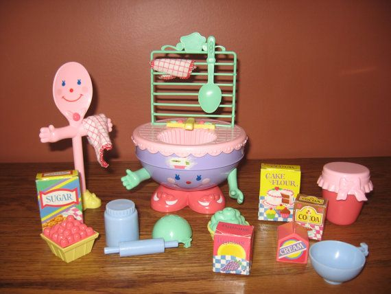 Vintage Cherry Merry Muffin MIX AND WASH set by sewcrazycollection --- I think I remember having this