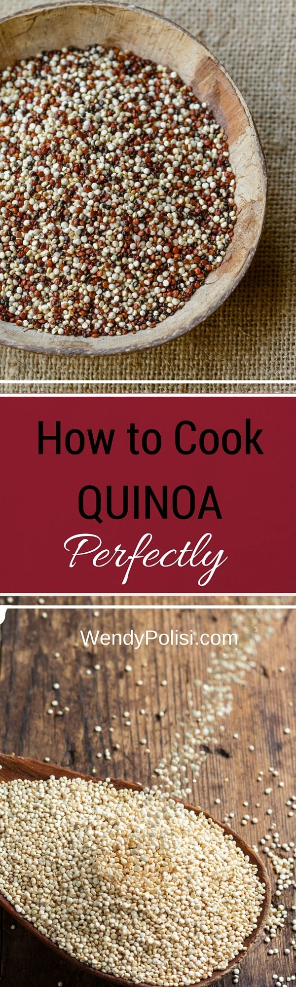 How to Cook Quinoa Perfectly - After more than 600 quinoa recipes, I've learn a thing or two about how to cook quinoa perfectly! Here are my best tips for cooking quinoa perfectly every time. via @wendypolisi