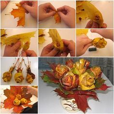 creative-maple-leaves-rose-flower-bouquet-0