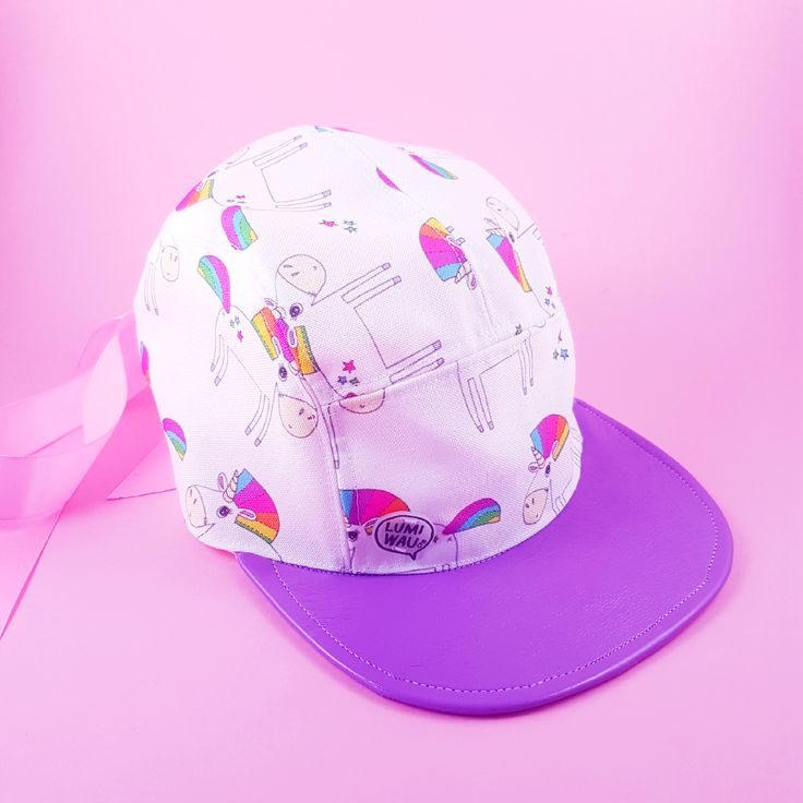 With this eco friendly unicorny girly edt 5 panel cap you'll definitely be…