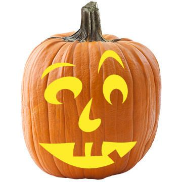 for a funny pumpkin carving idea try this silly pumpkin face template it will sure bring a few smiles from trick or treaters