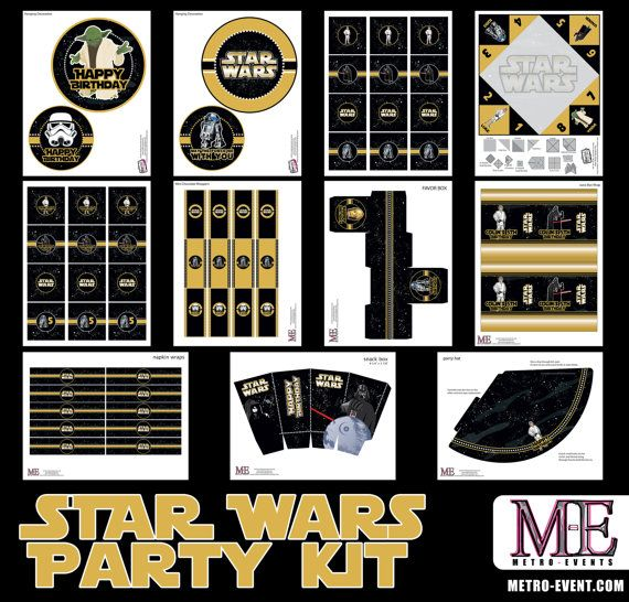 Star Wars Party Decorations Star Wars Instant by MetroEvents