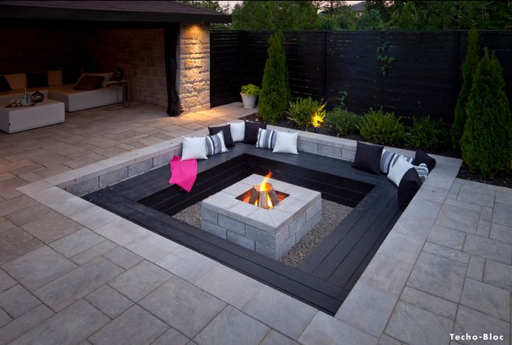 Landscape design trends in 2014 fireplaces pinterest for Modern fire pit ideas