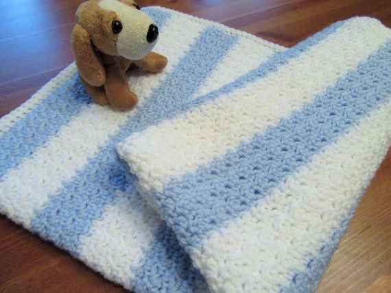 Crochet Baby Blanket Baby Afghan Handmade Blanket by TheComfyBaby