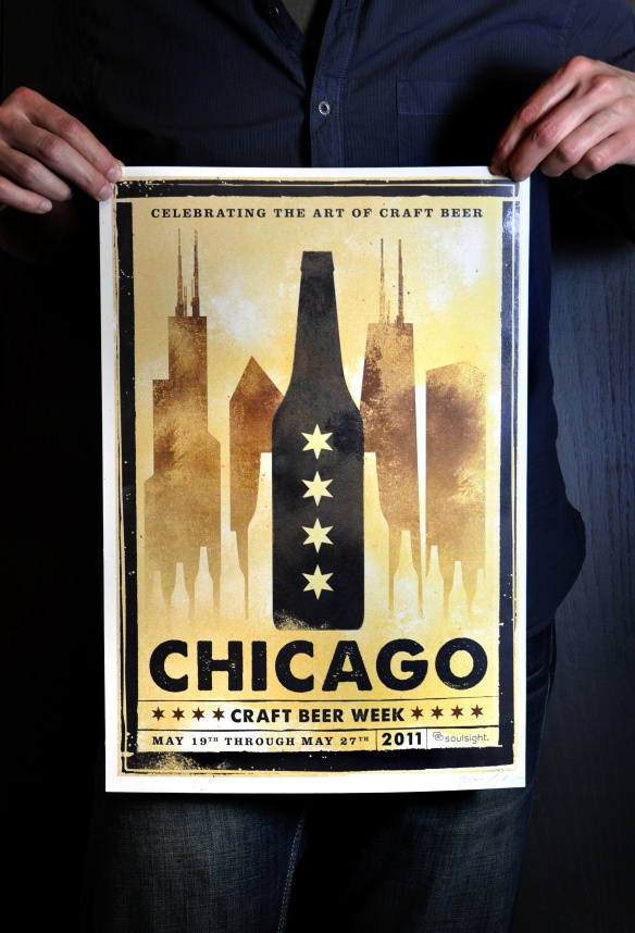 chicago beer poster