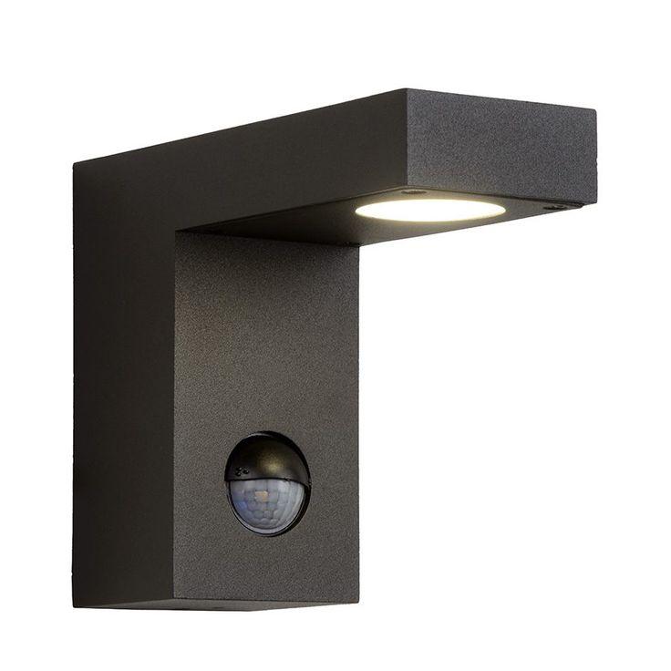 Texas-IR LED Vegglampe Sort m/Sensor-0