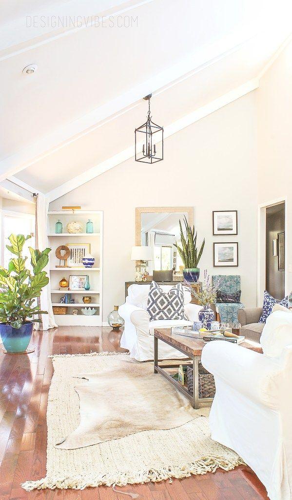 boho chic spring decor. Designing Vibes Spring Home Tour