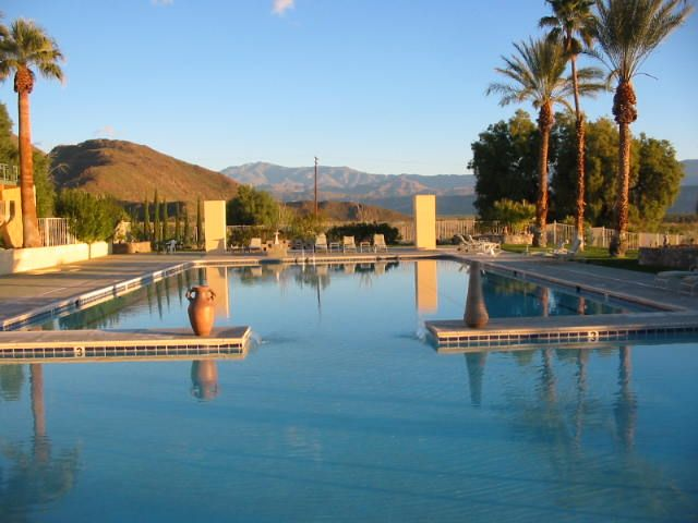 Olympic sized pool:  the palms hotel at Indian Head Borrego Springs