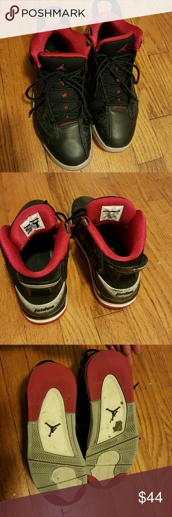 Men's  Jordan sneakers Authentic Jordan sneakers.  Passes the mommy's sniff test. Still has a semester of wear left. In great condition,  new lace. Please note there is an initial on the right foot from the previous owner. Jordan Shoes Sneakers