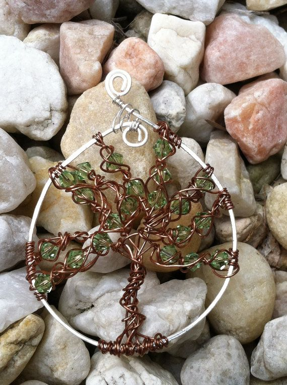 Tree of Life wire wrapped pendant, jewelry