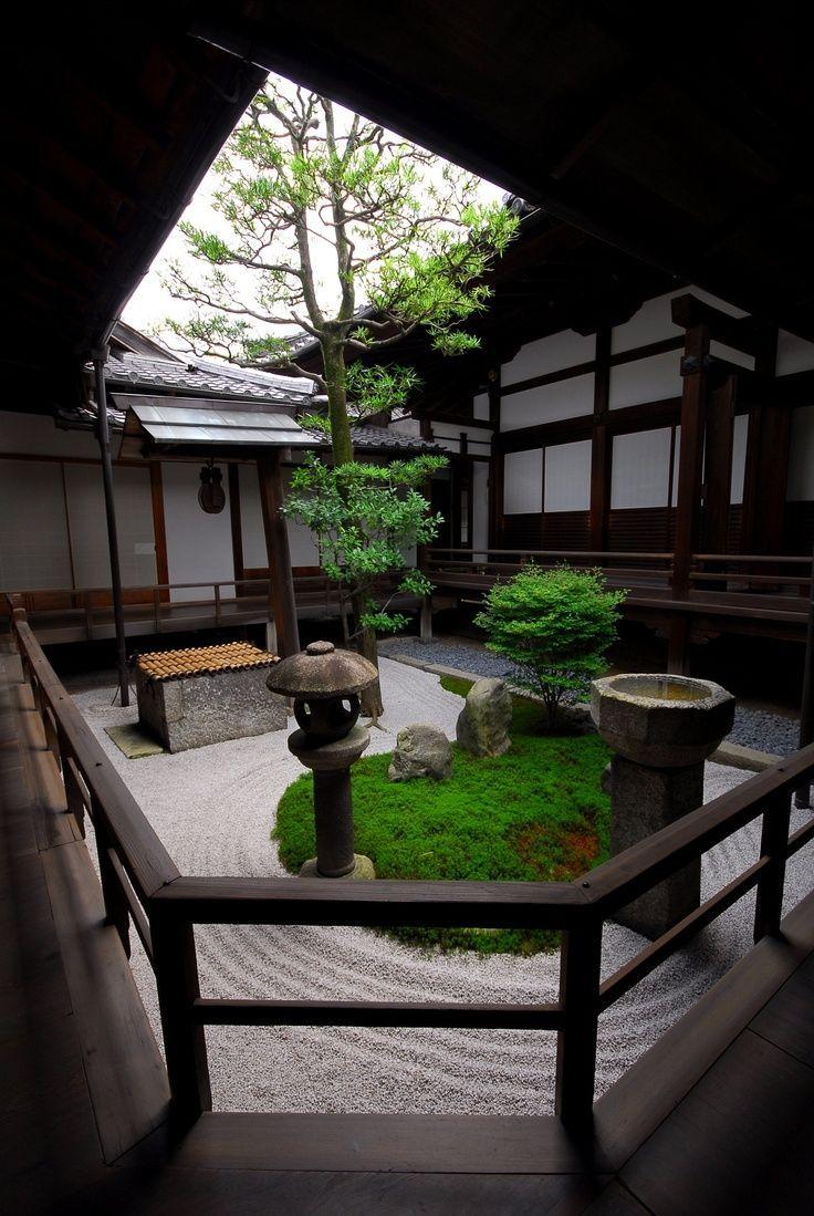 Small courtyard gardens known as tsubo niwas