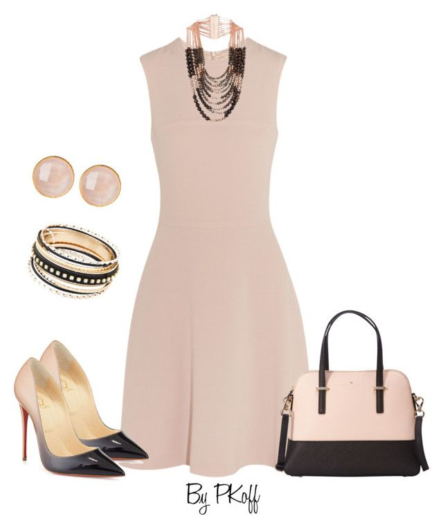Blush by pkoff on Polyvore featuring Joseph, Christian Louboutin, Kate Spade, Chicnova Fashion, Rosantica and Saachi