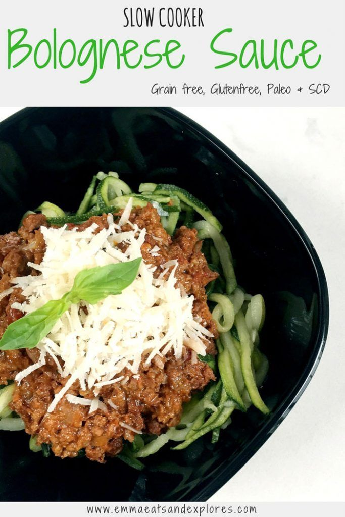 Slow Cooked Bolognese Sauce with Courgetti Spaghetti by Emma Eats & Explores - SCD, Paleo, Grainfree, Glutenfree, Dairyfree, Sugarfree & Low Carb
