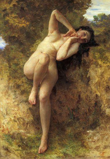 A Dryad, William-Adolphe Bouguereau