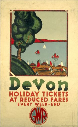 Devon - Holiday Tickets at Reduced Fares Art Print by National Railway Museum Easyart.com