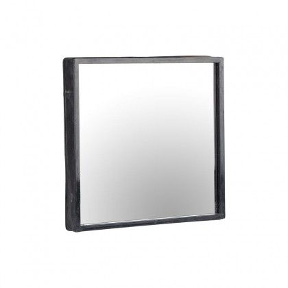 Square Mirror With Metal Surround - Mirrors - Home Accessories