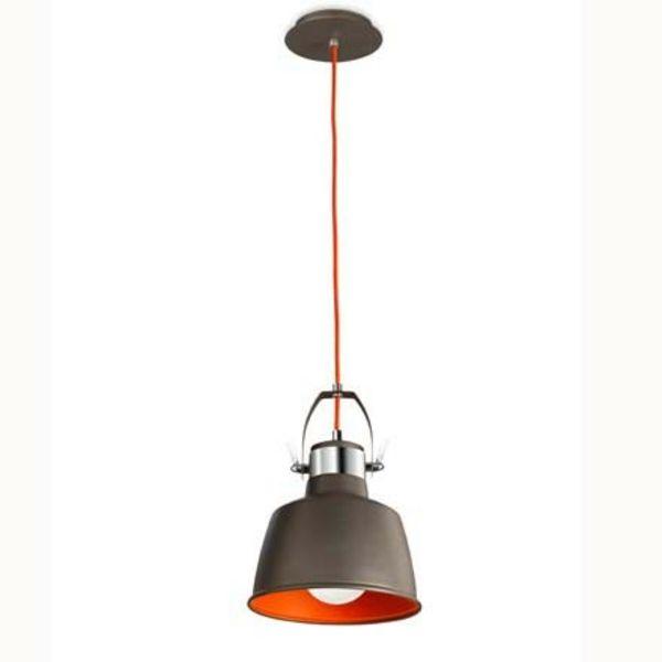 50 modèles- luminaire laurie, synonyme de chic et contamporain design - suspension-vintage-noir-orange-luminaires-laurie