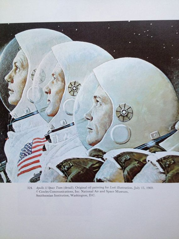Norman Rockwell, Apollo Astronauts, Astronauts, Space, Outer Space Theme, Vintage Rockwell, Rockwell Painting, NASA, Space Program, To Frame... $10