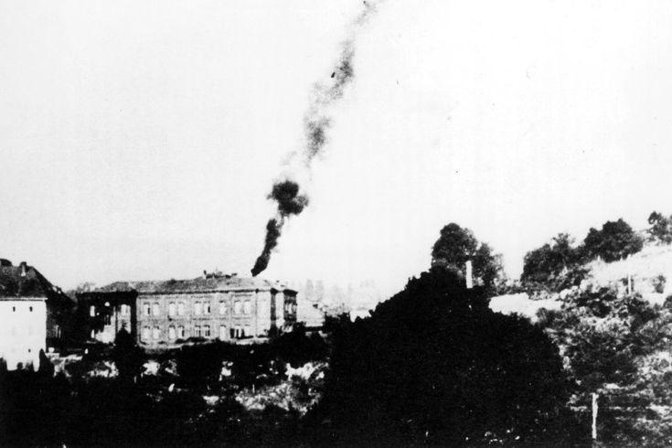 """Krematorium von Hadamar:  Der Schornstein rauchte unaufhörlich. """"Hier..."""