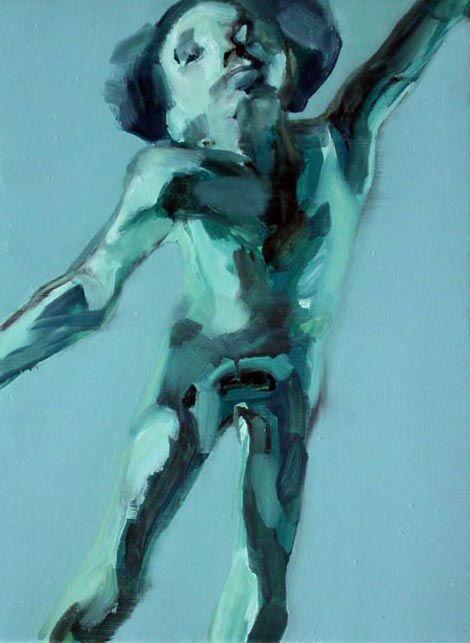 Dentro dipinta gabbia/2004-05/olio su tela, cm 43x33