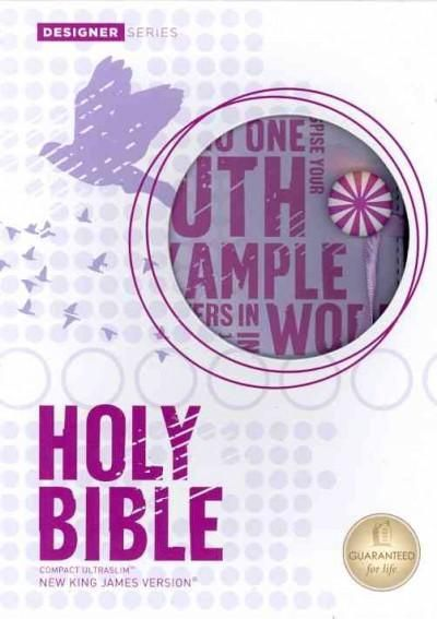 Holy Bible: New King James Version, Powder, Leathersoft Compact, Ultraslim