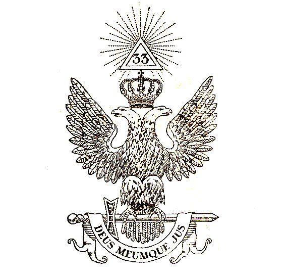 Aigle bicéphale - L'Aigle à deux têtes, emblème des hauts grades maçonniques du Rite écossais ancien et accepté.