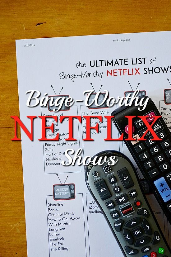 What to Watch on Netflix A Free Printable Guide of the Top 50 Most Recommended Netflix Shows