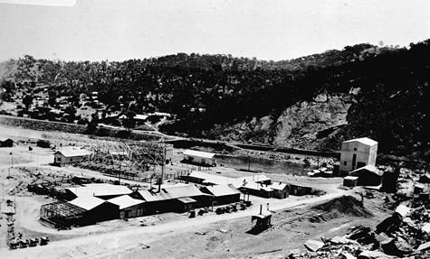 1920 Yallourn Victoria before it got pretty, pictured shacks and tents. Negative - Copy