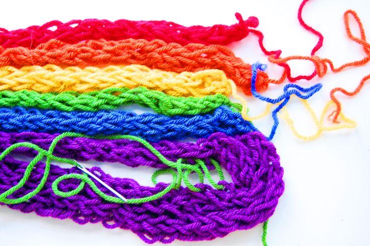 82 Best Finger Knitting Images On Pinterest