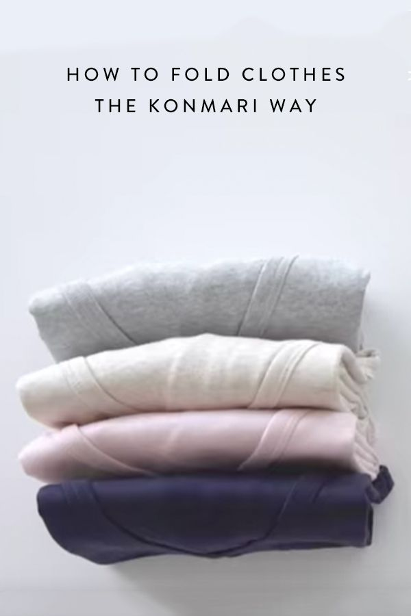 How to fold clothes using the KonMari method, created by organizational guru, Marie Kondo.