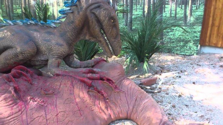 Dinosaurier p� parken zoo!