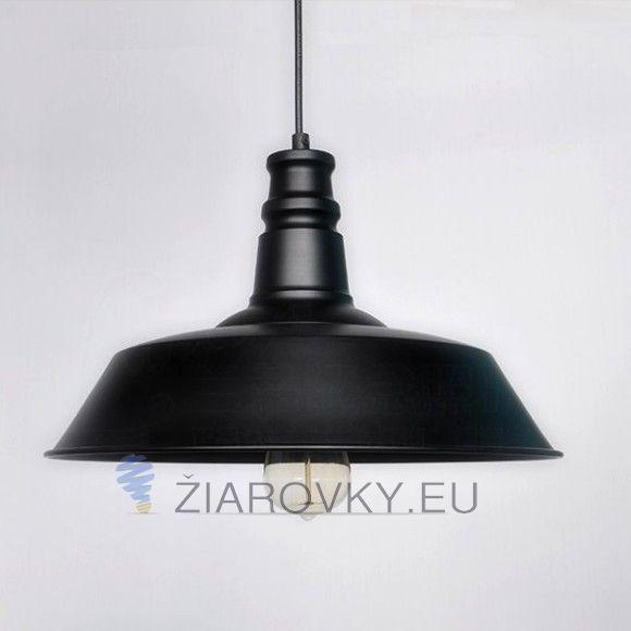 Moderné svietidlo Kvalitný materiál  Farba: čierna Určené na žiarovky pätice E27  Materiál: ocel, kov Stmievateľné: nie Vhodné na žiarovky do 40W Žiarovka nie je súčasťou balenia Dĺžka kábla: 1,1m Napätie: 90 – 260V Rozmer: priemer 26 cm