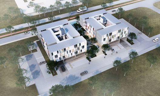 2º Lugar no concurso CODHAB-DF para edifícios de uso misto em Santa Maria,© Hiperstudio