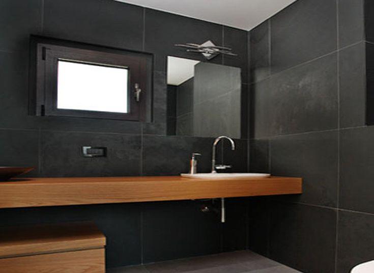 #bathroom #ardesia #stone #dark #wallcovering #bath